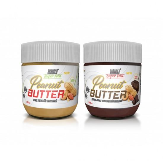 SSN Super Food Peanut Butter Yer Fıstığı Ezmesi ve Çikolatalı Fıstık Ezmesi 320 Gr.2'Li Paket