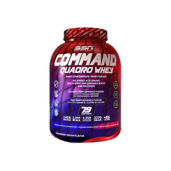 SSN Command Quadro Whey Protein 2370 Gr. Çilekli